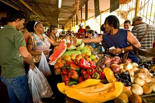 mercato di frutta e verdura, l´havana, cuba : Stock Photo