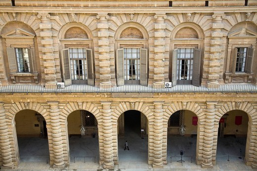 palazzo pitti, cortile, firenze, toscana, italia, europa : Stock Photo