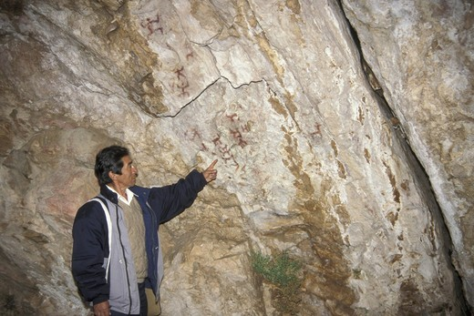 Stock Photo: 3153-637915 graffiti at callacpuma caves, cajamarca, peru