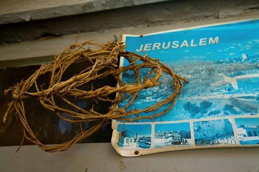 corone di spine, chiesa del santo sepolcro, gerusalemme, israele, medio oriente, asia : Stock Photo