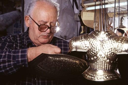 palermo, sicily, italy, nino mancuso in his atelier : Stock Photo