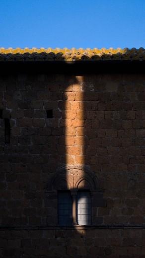 episcopal palace, colle san pietro, tuscania, lazio, italy : Stock Photo