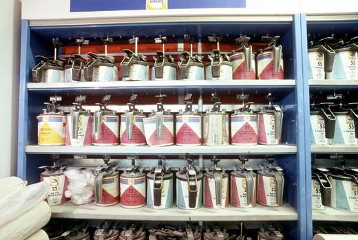 garage, paints : Stock Photo