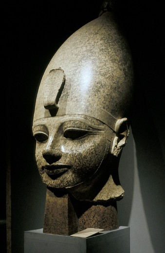 Stock Photo: 3153-641690 amenhotep iii at the museum, luxor, egypt
