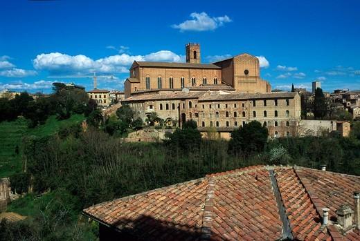 Stock Photo: 3153-642915 basilica of san domenico, siena, tuscany, italy