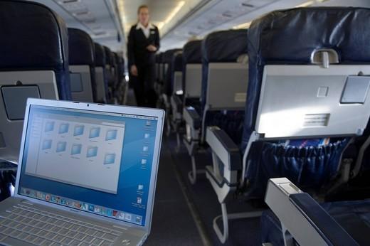 aircraft, computer : Stock Photo