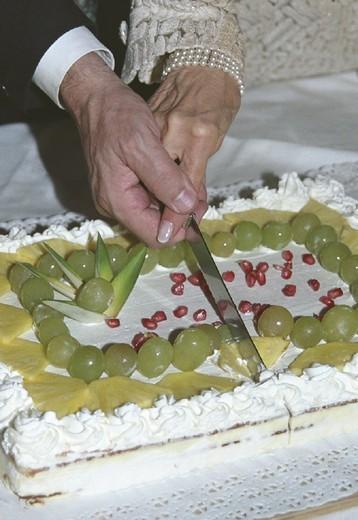 wedding cake, bergamo, italy : Stock Photo