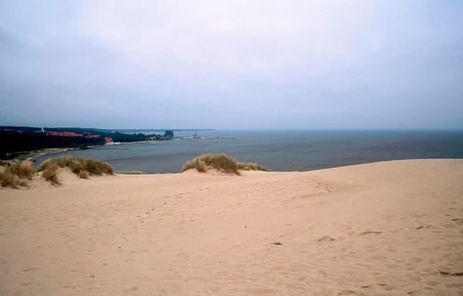 europe, lithuania, nida, curlandish peninsula national park, parnidis dune, curlandish bay : Stock Photo