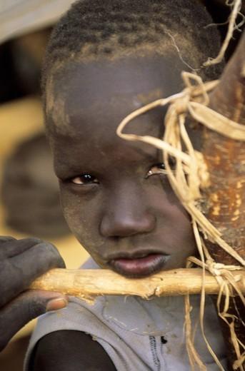 africa, kenya, kakuma refugees camp, sudanese child : Stock Photo