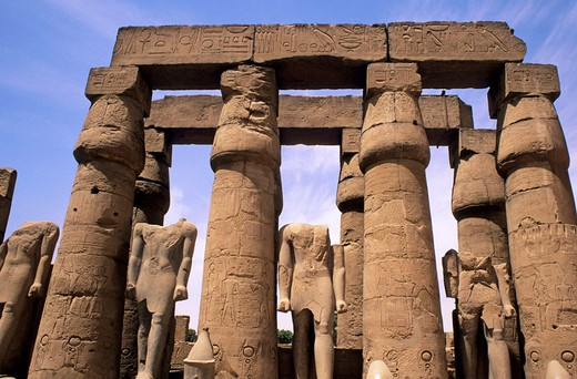 africa, egypt, luxor, temple of luxor : Stock Photo
