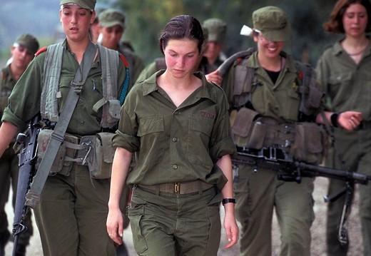 israel, israeli defense force battalion, idf, recruits : Stock Photo