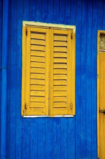 yellow window : Stock Photo