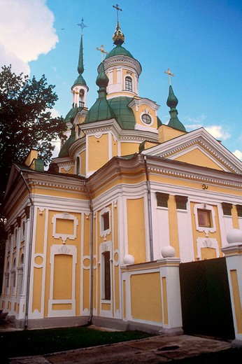 europe, estonia, parnu, russian orthodox church of saint caterina : Stock Photo