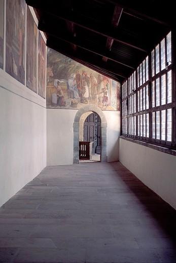 europe, italy, tuscany, chiusi della verna, santuario della verna, passage of stigmatas : Stock Photo