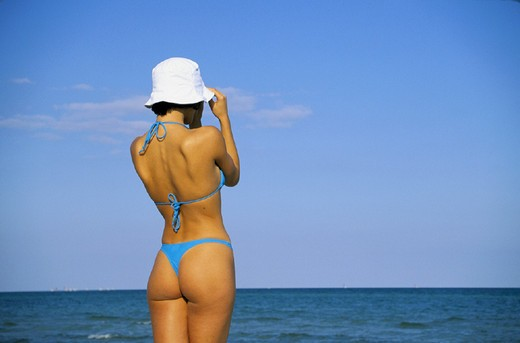 Stock Photo: 3153-649958 woman on the beach
