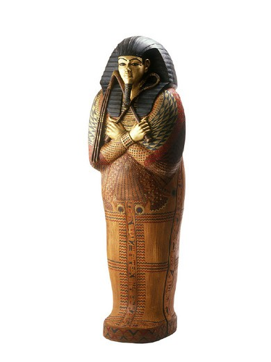 reproduction of an egyptian sarcophagus, gardaland, italy : Stock Photo