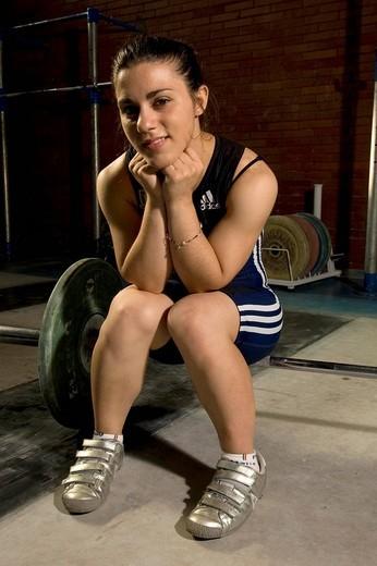 Stock Photo: 3153-650796 genny pagliaro ,rome 08_07_2008,weight lifting itlalian national team ,photo paolo bona/markanews