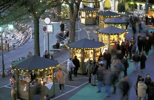 christmas market, garda, italy : Stock Photo