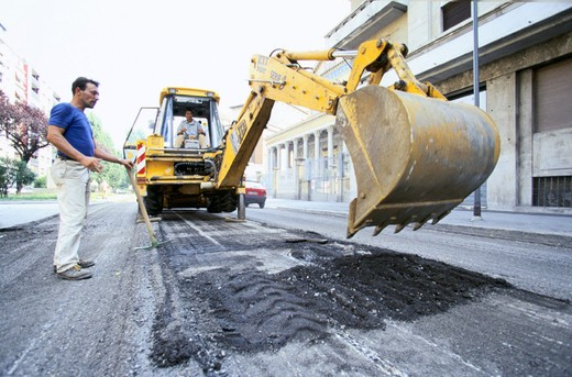 milan, roadworks : Stock Photo