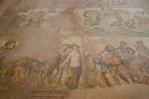 europe, cyprus, pafos, house of aion, mosaics : Stock Photo