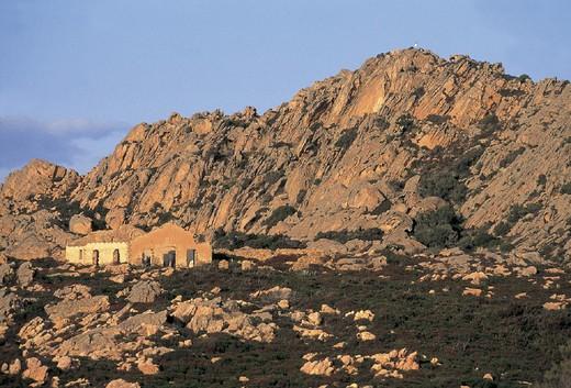 italy, sardinia, caprera island, arbuticci battery 1887/1897 : Stock Photo