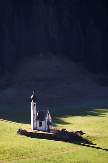funes valley, santa maddalena, trentino alto adige, italy : Stock Photo