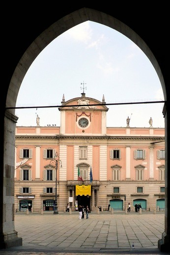 palace of the governor, piacenza, emilia romagna, italy : Stock Photo