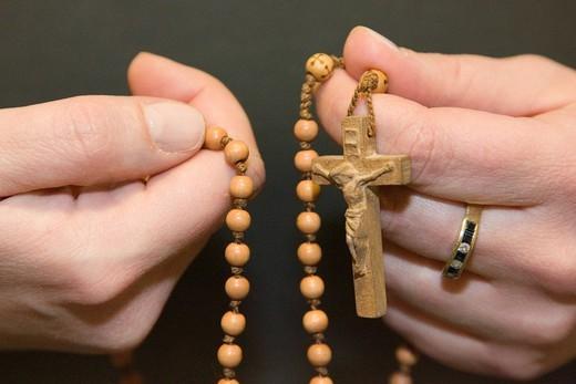 catholic rosary : Stock Photo