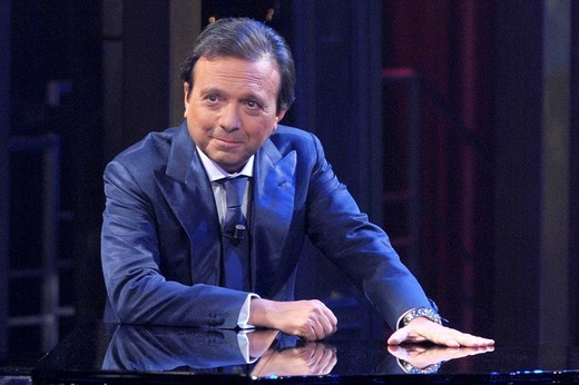 piero chiambretti, chiambretti night tv programme : Stock Photo