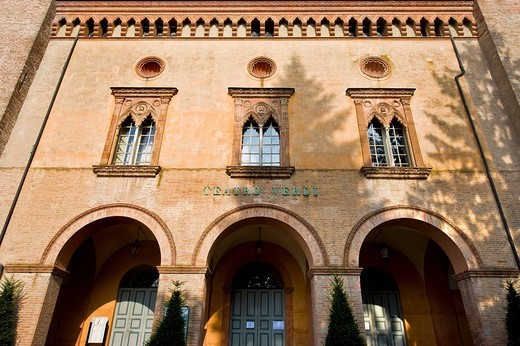 teatro giuseppe verdi, busseto, emilia romagna, italia : Stock Photo