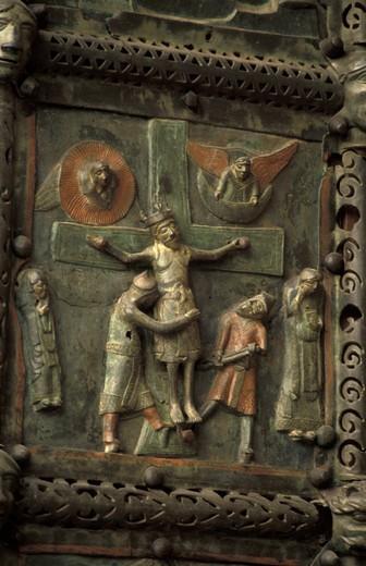 st.zeno maggiore´s church:crucifixion, verona, italy : Stock Photo