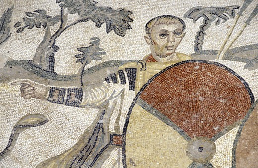 Stock Photo: 3153-659449 roman villa del casale/mosaic, piazza armerina, italy