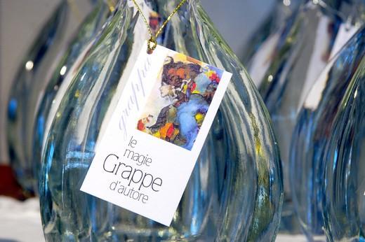 mantovani distillery, bottles of grappa : Stock Photo