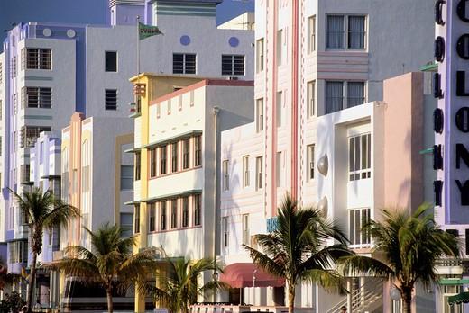 america, united states of amirica, florida, miami beach, ocean drive : Stock Photo