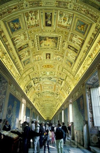 vatican museums: maps gallery, vatican, vatican : Stock Photo