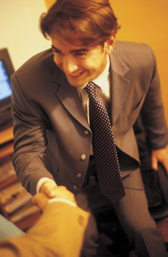 Stock Photo: 3153-661776 man at work, office, shaking hands