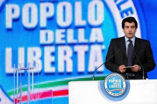 Stock Photo: 3153-664620 raffaele fitto , roma 2009 , first popolo della libertà party meeting