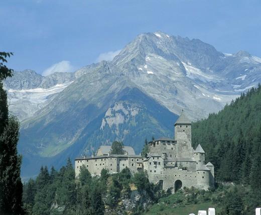 italy, trentino alto adige, tures, view of castello di campo : Stock Photo