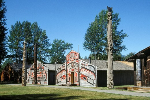 Stock Photo: 3153-665419 canada, Vancouver British Columbia Canada totem pole park forest Indian native art story history culture cultural tribe