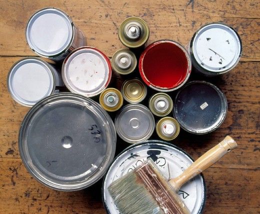 enamel and paints : Stock Photo