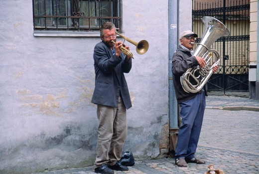 Stock Photo: 3153-665783 europe, latvia, riga, musicians