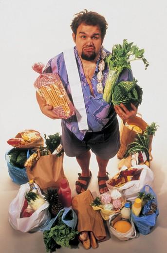 Stock Photo: 3153-666698 man, doing the shopping