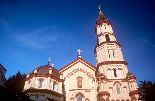 europe, lithuania, vilnius, orthodox church of saint nicola : Stock Photo
