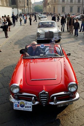 Stock Photo: 3153-668369 milano 11_10_2008 ,milano trophy for historical cars ,photo marco becker/markanews