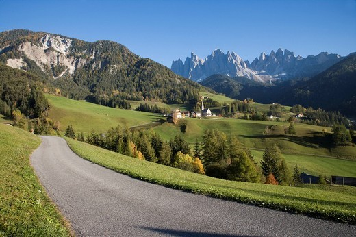 funes valley, santa maddalena, trentino alto adige, italy : Stock Photo