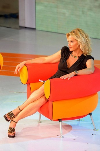 simona ventura, milan 2009, quelli che il calcio tv programme : Stock Photo