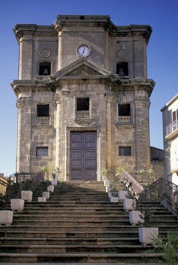 st. cataldo church, enna, italy : Stock Photo