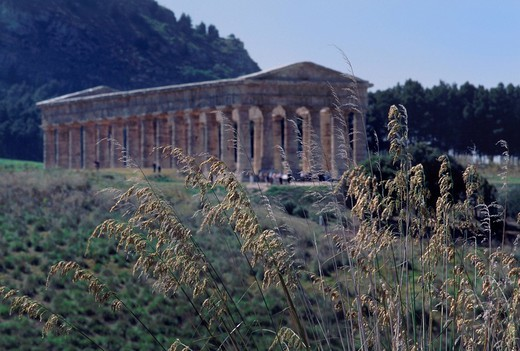 europe, italy, sicily, calatafimi_segesta, temple : Stock Photo