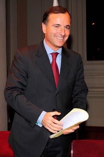 Stock Photo: 3153-670405 franco frattini foreign minister,roma 02_12_2008,photo mezzabarba/markanews