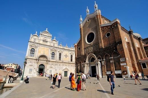 campo santi giovanni e paolo, venezia, veneto, italia : Stock Photo